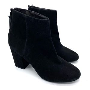 💫 STEVE MADDEN Cynthia Black Suede Ankle Booties
